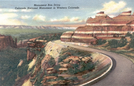 The road I was driving on (from old postcard - circa 1940)